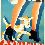 Tadeusz Gronowski, Gentelman. Śniegowiec wytwornej damy, plakat, 1929, Muzeum Plakatu w Wilanowie