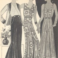 W barwach lata, reklama sukien z Domu Towarowego Braci Jabłkowskich, 1932