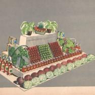 Album dekoracji wystaw warzywno-owocowych, dekoracja wiosenna