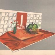Album dekoracji wystaw warzywno-owocowych, dekoracja z okazji 1 maja