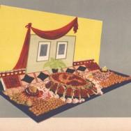 Album dekoracji wystaw warzywno-owocowych, dekoracja z okazji Miesiąca Przyjaźni Polsko-Radzieckiej