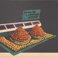 Album dekoracji wystaw warzywno-owocowych, dekoracja zimowa